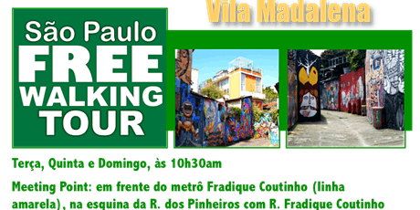 SP Free Walking Tour - VILA MADALENA (Português) ingressos