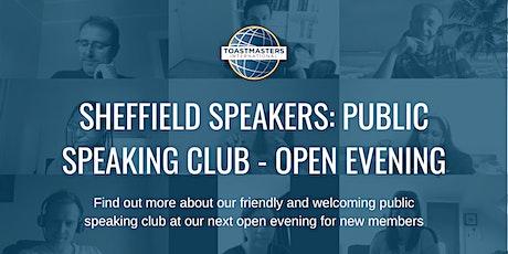 Sheffield Speakers: Public Speaking Club - Online open evening tickets