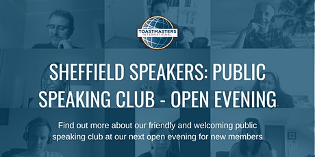 Sheffield Speakers: Public Speaking Club - Open evening for new members tickets