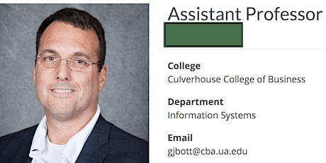 Cybersecurity Talk by Dr Greg Bott (University of Alabama) tickets
