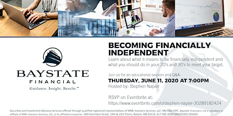 Becoming Financially Independent Webinar tickets