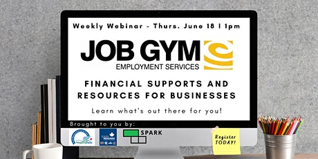 Financial Supports and Resources for Businesses with Job Gym tickets
