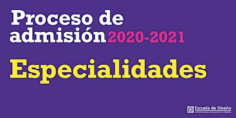 Sesión Informativa Especialidades entradas