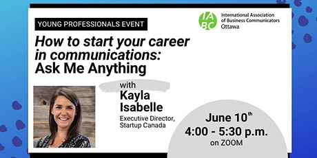 How to Start your Career in Communications :  AMA with Kayla Isabelle tickets