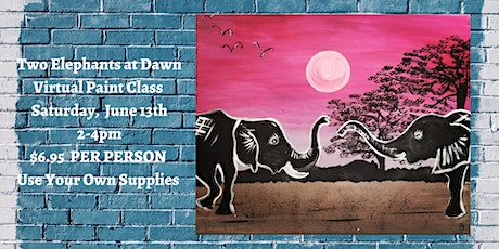 Two Elephants at Dawn Virtual Paint Class tickets