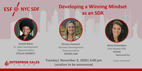 RESCHEDULED! - Developing a Winning Mindset as an SDR tickets