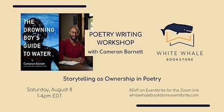 Writing Workshop: Storytelling as Ownership in Poetry, w/ Cameron Barnett tickets