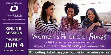 Women's Financial Fitness - Online Session: Budgeting tickets