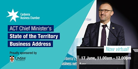 2020  ACT Chief Minister's State of the Territory Business Address tickets