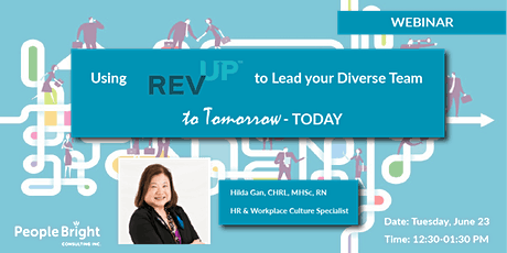 Using Connect with REVUP™ to Lead your Diverse Team to Tomorrow - Today tickets