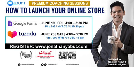 Premium Webinar: How to Launch Your Online Store via Google Forms (June 19) tickets
