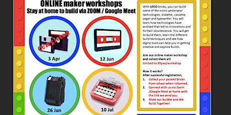 Maker's@DMNS Library: LEGO Minibuild-  Yesteryear Technologies (For Dunman Sec Students and Staff Only) tickets