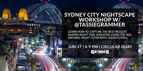 Sydney City Nightscape Workshop w/ @Tassiegrammer tickets