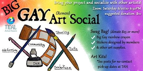 Big Gay Remote Art Social tickets