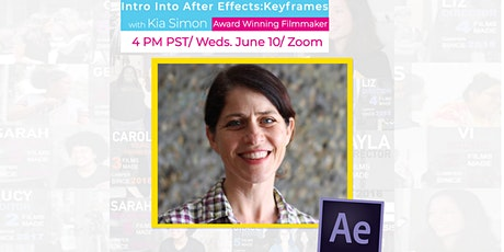 Intro into After Effects: Keyframes, with Reel Stories on Zoom! tickets