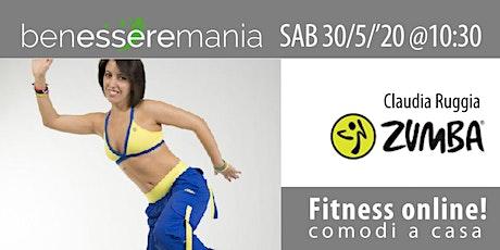 Fitness online - Zumba con Claudia Ruggia | BenessereMania tickets