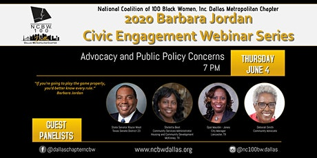 Barbara Jordan Civic Engagement Series - Advocacy & Public Policy Concerns tickets