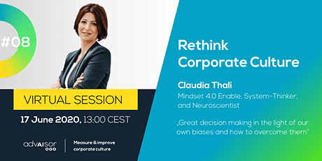 "WEBINAR ""Rethink Corporate Culture #08"" tickets"