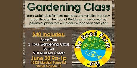 Gardening Class tickets