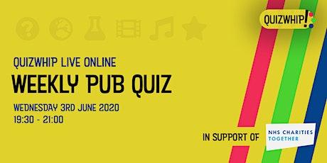 QuizWhip Live Online Weekly Pub Quiz #5 tickets