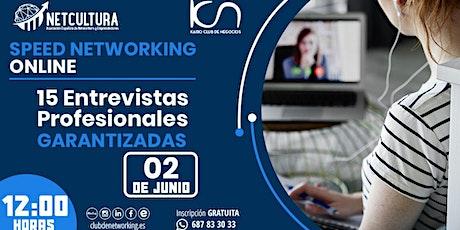 SPEED NETWORKING ONLINE. Tu Red de Contactos Empresariales. entradas