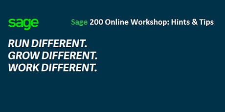 Sage 200 Accounts User Group Workshop (Hints & Tips) tickets