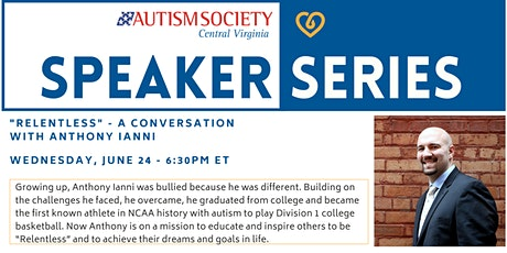 """ASCV Speaker Series: """"Relentless"""" - A Conversation with Anthony Ianni tickets"""