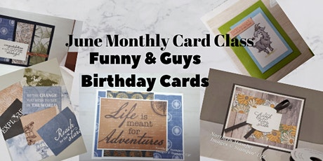Online Monthly Card Club Humour & Cards for Guys tickets