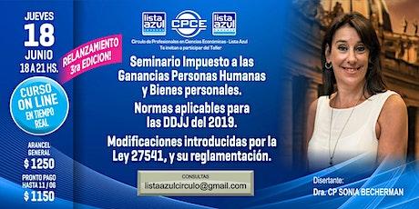 3ra Edición! Seminario Imp a Las Gcias Personas Humanas y Bienes Personales entradas