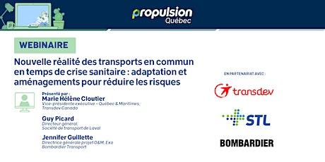 WEBINAIRE |L'adaptation des transports en commun pour réduire les risques billets