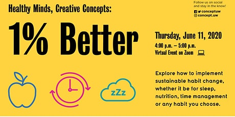 Healthy Minds, Creative Concepts: 1% Better tickets