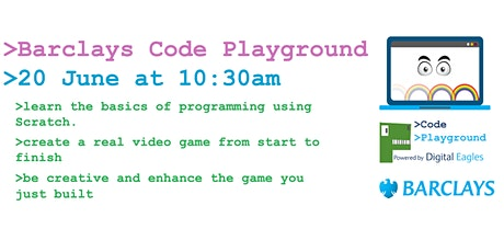 >Barclays Code Playground Tickets
