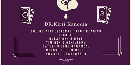 Professional tarot card reading course tickets