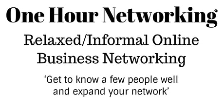 One Hour Networking - Wednesday's tickets