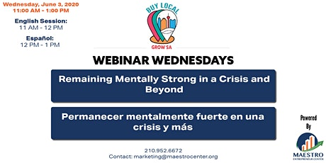 Remaining Mentally Strong in a Crisis and Beyond tickets