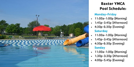 Baxter YMCA Outdoor Pool Reservations tickets