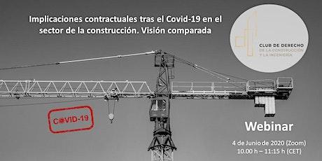 Implicaciones contractuales tras el Covid19 en el sector de la construcción boletos