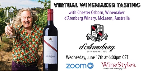 D'Arenberg Virtual Wine Tasting with Chief Winemaker, Chester Osborn tickets