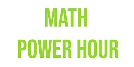 Monday Math Power Hour tickets