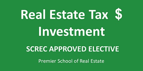 RE Tax & Investment Webinar (4 CE ELECT) Tues July 21 2020 (1-5) tickets