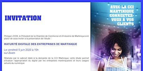 Présentation de l'Étude maturité digitale des entreprises Martiniquaise tickets