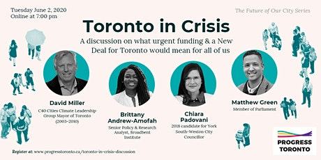 The Future of Our City Series: Toronto in Crisis discussion tickets