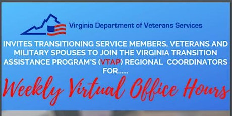 VTAP Weekly Virtual Office Hours tickets