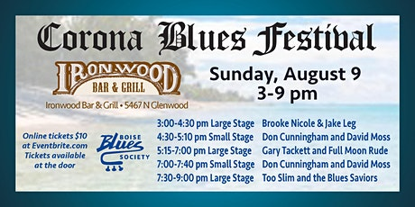 Boise Blues Society presents Corona Blues Festival tickets