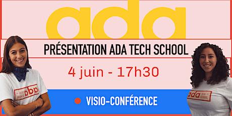 Présentation d'Ada Tech School - LIVE billets