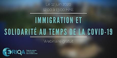 Immigration et solidarité au temps de la COVID-19 tickets