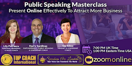 You Are Invited To An Online Public Speaking Masterclass entradas