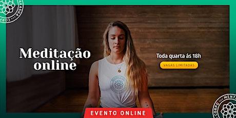 Meditação online ingressos