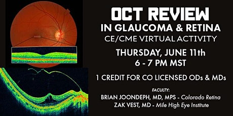 """CE/CME Virtual Activity -  """"OCT Review in Glaucoma & Retina"""" tickets"""