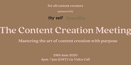 The Content Creation Meeting tickets